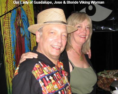 Our Lady of Guadalupe, Jose & Blonde Viking Woman