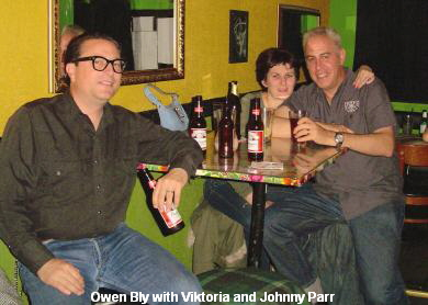 Owen Bly with Viktoria and Johnny Parr