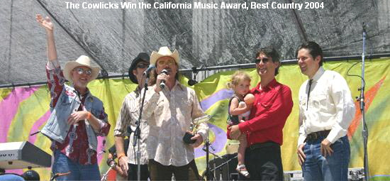 The Cowlicks Win the California Music Award, Best Country 2004